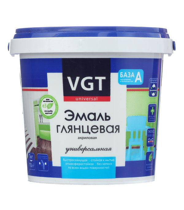 Эмаль акриловая глянцевая супербелая основа А VGT 1 кг эмаль акриловая матовая песочная vgt 1 кг