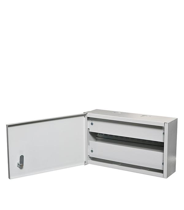 Щиток навесной ОЩВ для 12 модулей и под вводной автомат металлический IP31 щиток встраиваемый для 12 модулей металлический ip31 иэк щрв