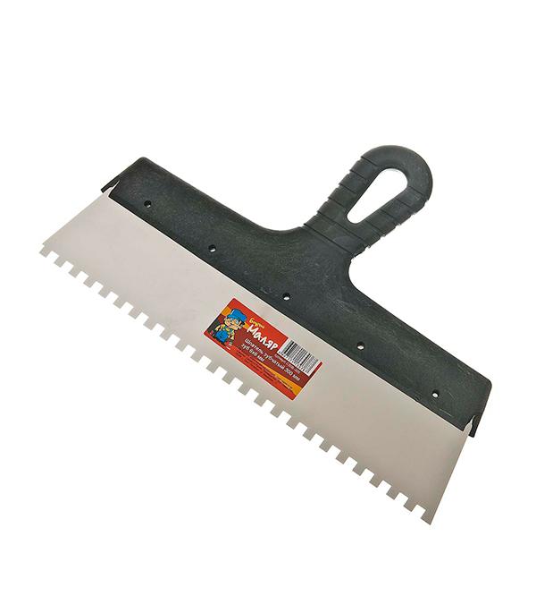 Зубчатый шпатель 300х6 мм цена