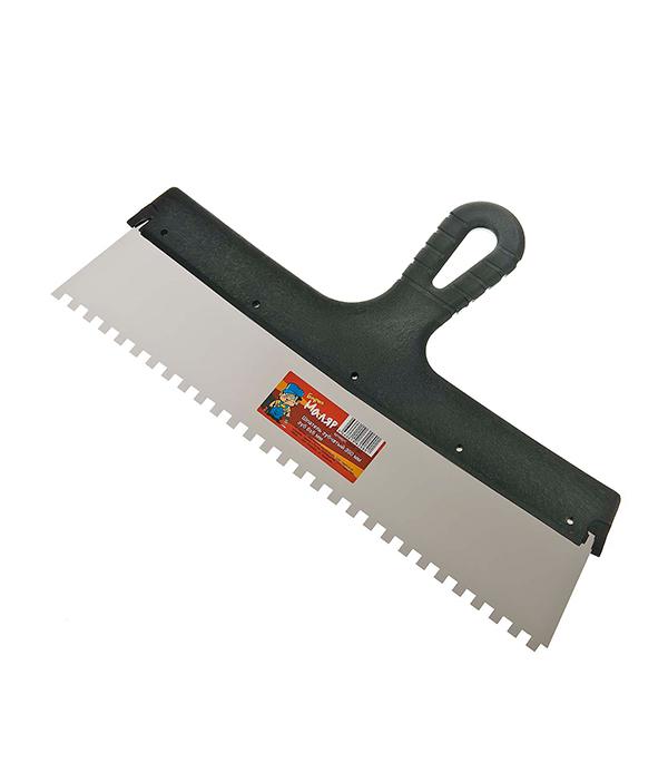 Зубчатый шпатель 350х6 мм цена