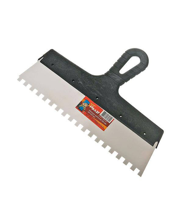 Зубчатый шпатель 300х8 мм цена