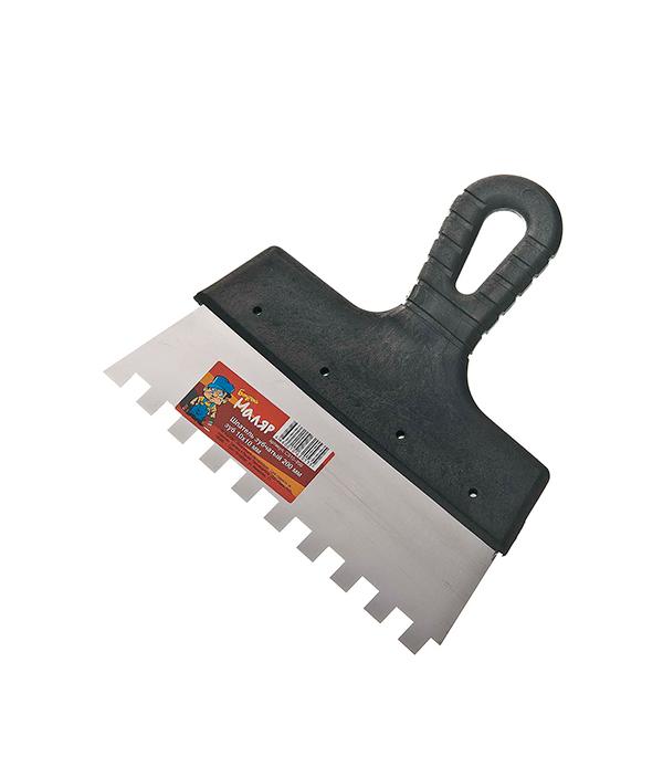 Зубчатый шпатель 200х10 мм цена