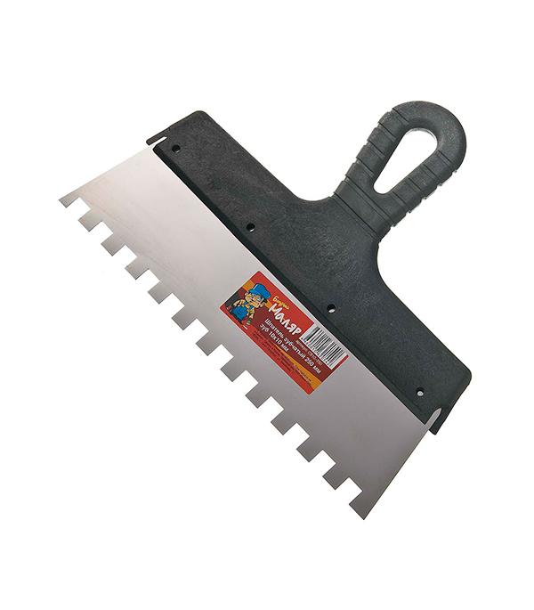 Зубчатый шпатель 250х10 мм цена