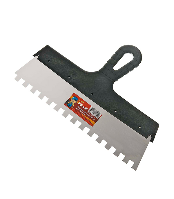 Зубчатый шпатель 300х10 мм цена