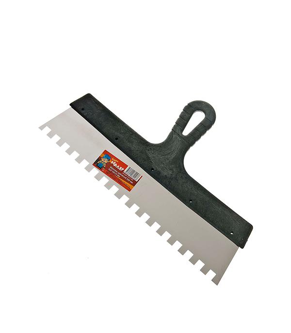 Зубчатый шпатель 350х10 мм цена