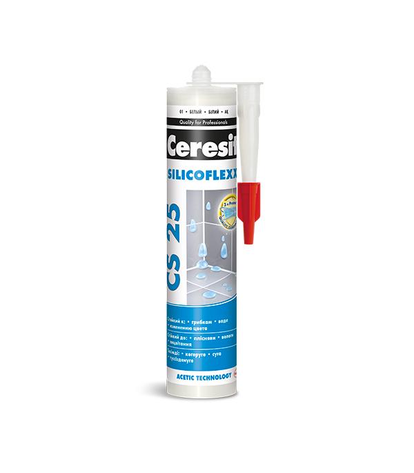 Купить Герметик силиконовый затирка Ceresit CS 25 №58 темно-коричневый 280 мл