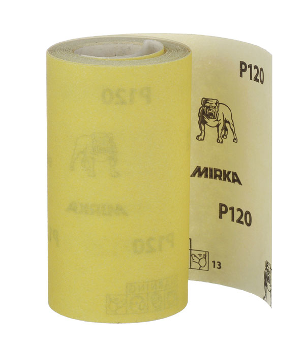 Наждачная бумага Mirox Mirka P120 желтая 115 мм 5 м наждачная бумага mirox mirka p180 желтая 115 мм 50 м