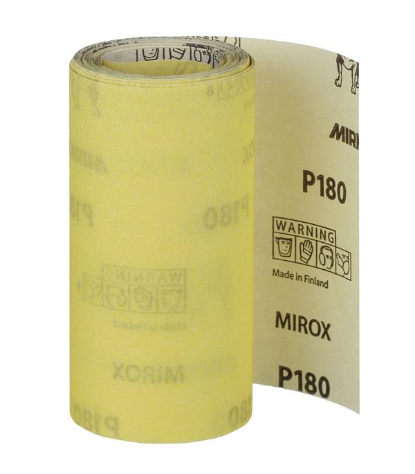 Наждачная бумага Mirox Mirka P180 желтая 115 мм 5 м наждачная бумага mirox mirka p180 желтая 115 мм 50 м
