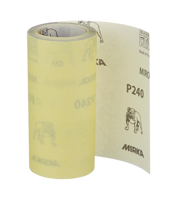 Наждачная бумага Mirox Mirka P240 желтая 115 мм 5 м ремень абразивный на тканой основе 100х292 мм p240 glob g100х292p240