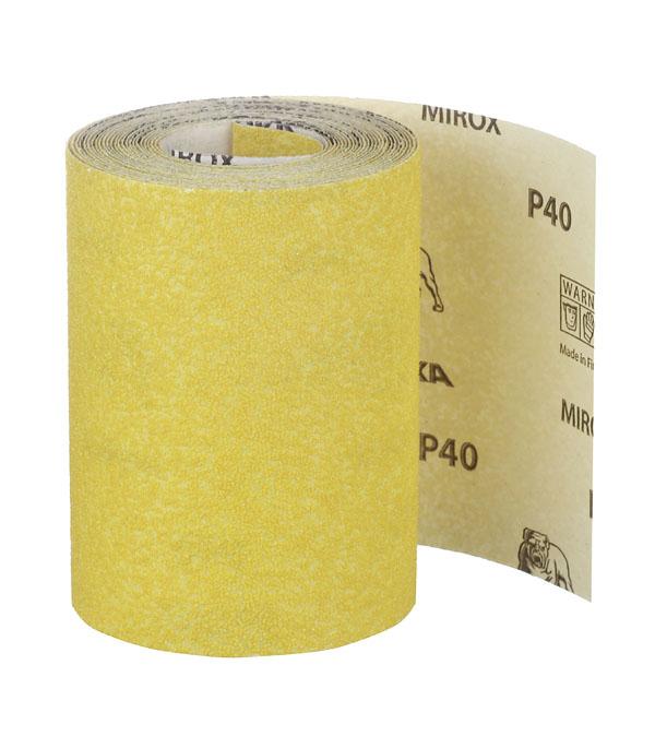 Наждачная бумага Mirox Mirka P40 желтая 115 мм 5 м наждачная бумага mirox mirka p180 желтая 115 мм 50 м