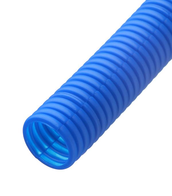 цены на Труба гофрированная 25 мм для металлопластиковых труб d16 мм синяя бухта 50 м в интернет-магазинах