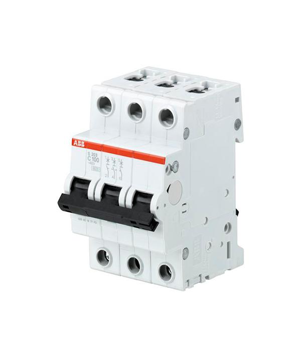 Автомат ABB S203 (2CDS253001R0804) 3P 80 А тип C 6 кА 230 В на DIN-рейку автомат legrand rx3 419669 1p 50 а тип c 4 5 ка 230 в на din рейку
