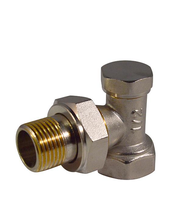 Вентиль запорный угловой 1/2 клапан для радиатора запорный прямой н образный ростерм для двухтрубной системы отопления 1 2