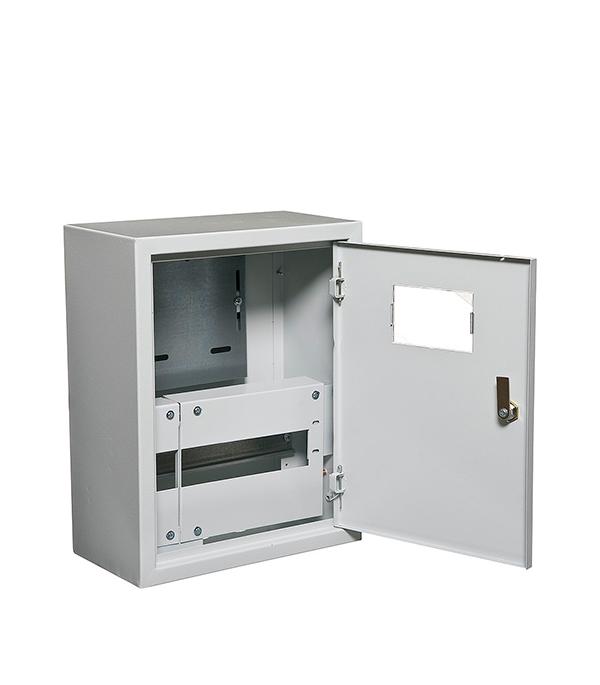 Щиток навесной IEK ЩУРн для 12 модулей и под 1ф счетчик металлический IP31 iek mkm14 n 18 31 z корпус металлический щрн 18з 1 36 ухл3 ip31