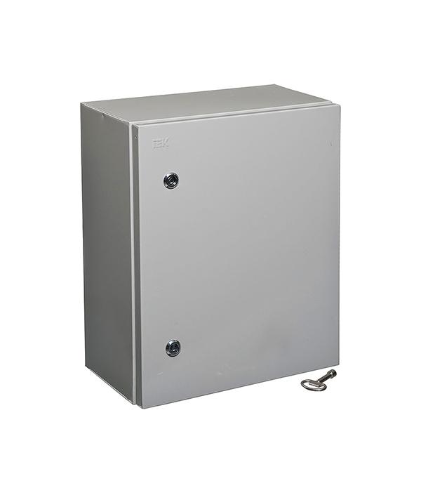 Щиток навесной/напольный IEK ЩМП-2 с монтажной панелью 500х400х220 металлический IP54 щит rucelf щмп 04 ip54