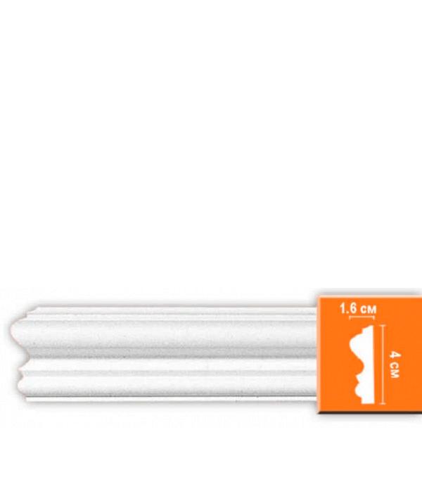 Плинтус (молдинг) из полиуретана 16х40х2400 мм Decomaster плинтус молдинг 42х42х2400 мм decomaster прованс