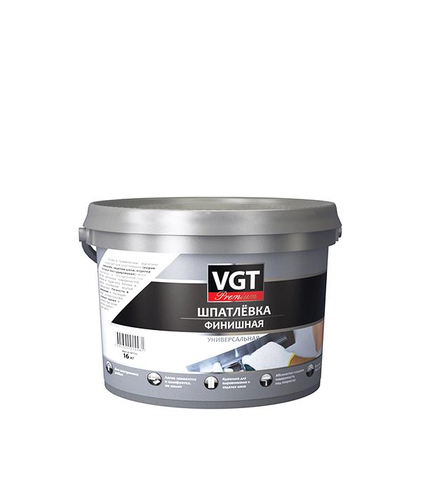 Шпатлевка финишная VGT Premium 16 кг шпатлевка финишная основит элисилк ра39 w 28 кг