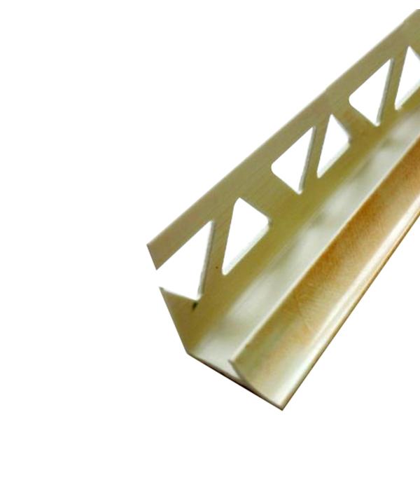 Уголок ПВХ для кафельной плитки внутренний 9х2500мм песочный ракушечник уголок пвх rico moulding 20х20х2700мм бук натуральный