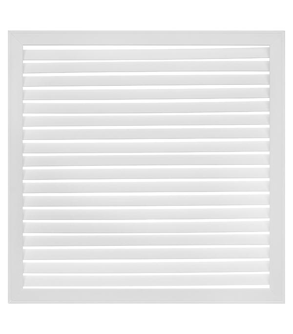 Решетка вентиляционная, 600х 600, белая, ПВХ цена и фото