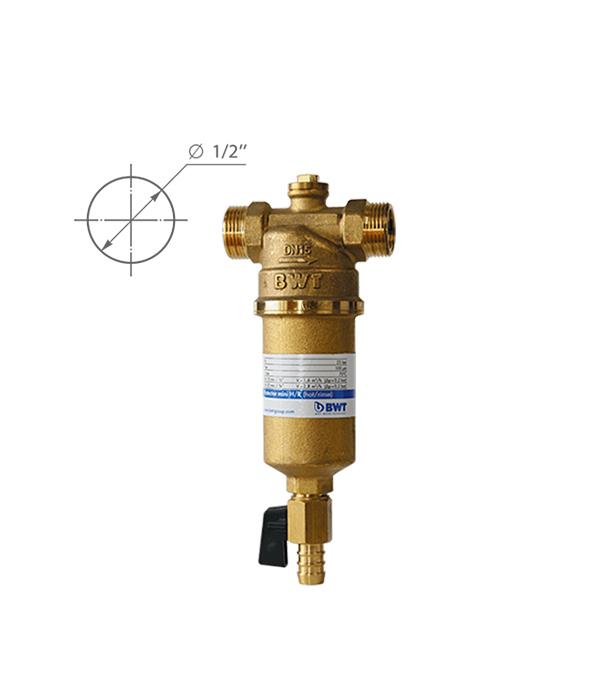 Предфильтр BWT Protector Mini для горячей воды прямая промывка 1/2 НР(ш) х 1/2 НР(ш)