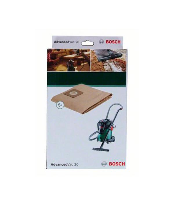 Мешки для пылесоса Bosch AdvancedVac20 (5 шт) мешки для пылесоса metabo asa 1202 32 л 5 шт