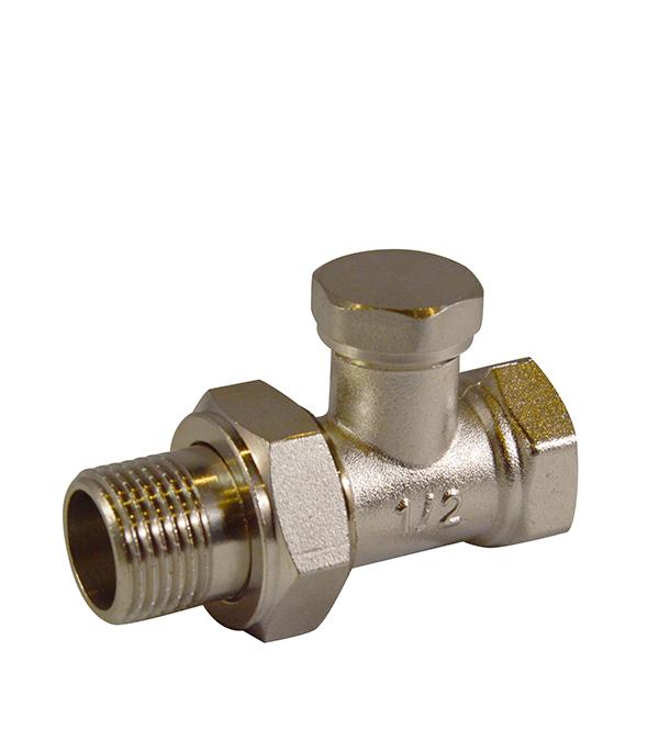 Вентиль запорный прямой 1/2 клапан для радиатора запорный прямой н образный ростерм для двухтрубной системы отопления 1 2