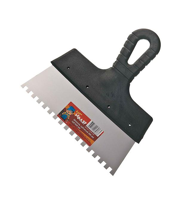 Зубчатый шпатель 200х6 мм цена