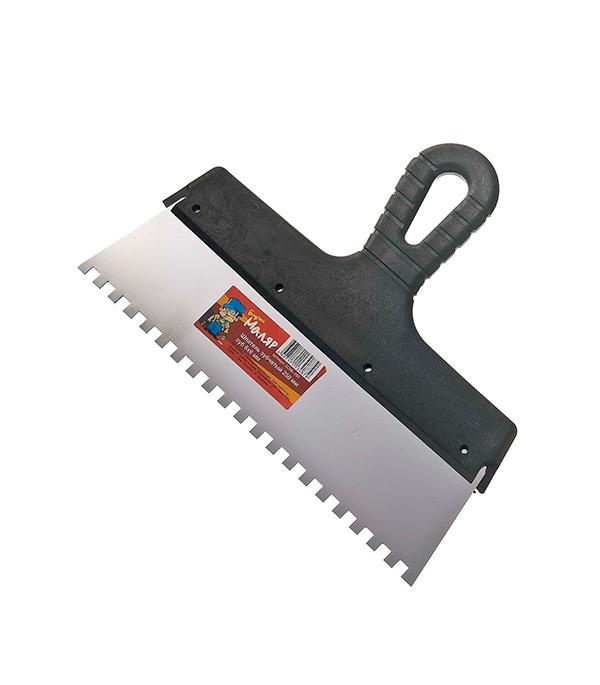 Зубчатый шпатель 250х6 мм цена