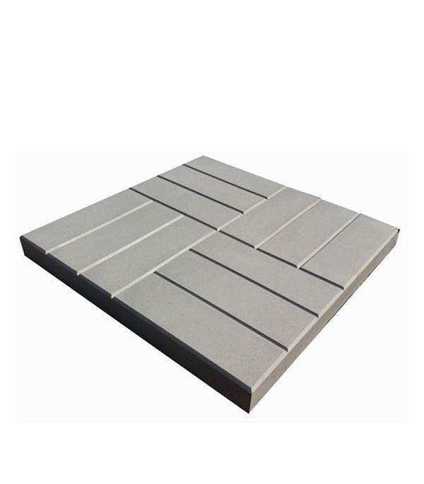 Плитка тротуарная 12-кирпичей 500х500х50 мм серая