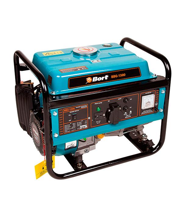 Генератор бензиновый Bort BBG-1500 1.0 кВт генератор bort bbg 6500