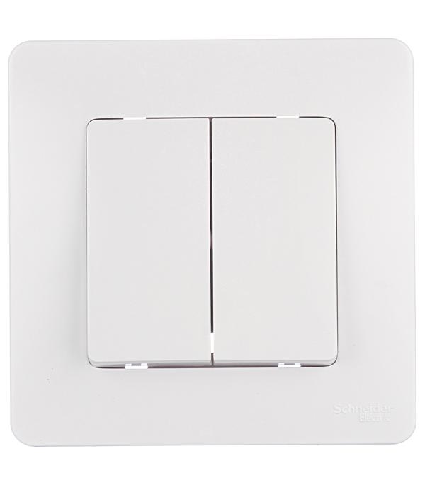 Купить Выключатель двухклавишный с/у Schneider Electric Blanca белый