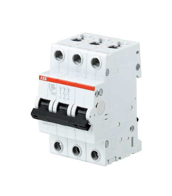 Автомат ABB S203 (2CDS253001R0824) 3P 100 А тип C 6 кА 230 В на DIN-рейку автомат legrand rx3 419669 1p 50 а тип c 4 5 ка 230 в на din рейку