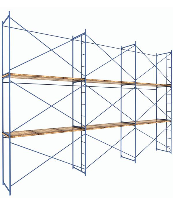 Леса строительные 9х6 м каркас сталь рабочая высота 6 м 54 кв.м