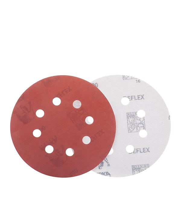 Диск шлифовальный с липучкой Р120 d=125 мм перфорированный (5шт) MIRKA DEFLEX диск makita d 27159 a80 шлифовальный для стали цветных металлов пластика и дерева 180x22 2mm
