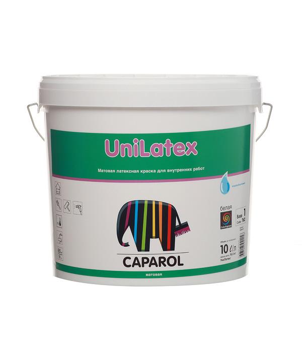 Краска водно-дисперсионная Caparol Unilatex влагостойкая белая база 1 10 л
