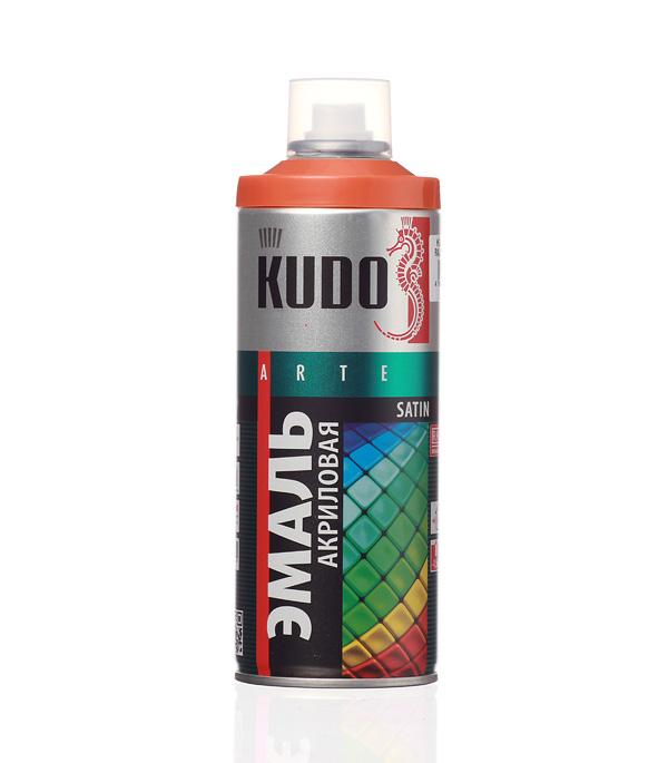 Эмаль аэрозольная Kudo Satin оранжевая полуматовая RAL 2001 520 мл стоимость