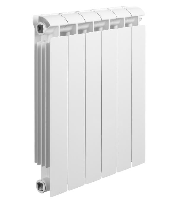 """Радиатор биметаллический Global Style Extra 500 мм 6 секций 1"""" боковое подключение белый"""
