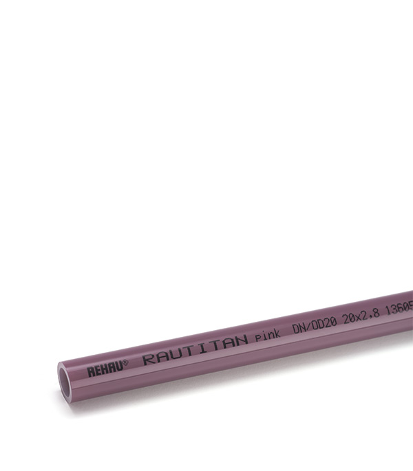 все цены на Труба полиэтиленовая 20 х 2,8 мм Rehau Rautitan Pink бухта 120 м онлайн