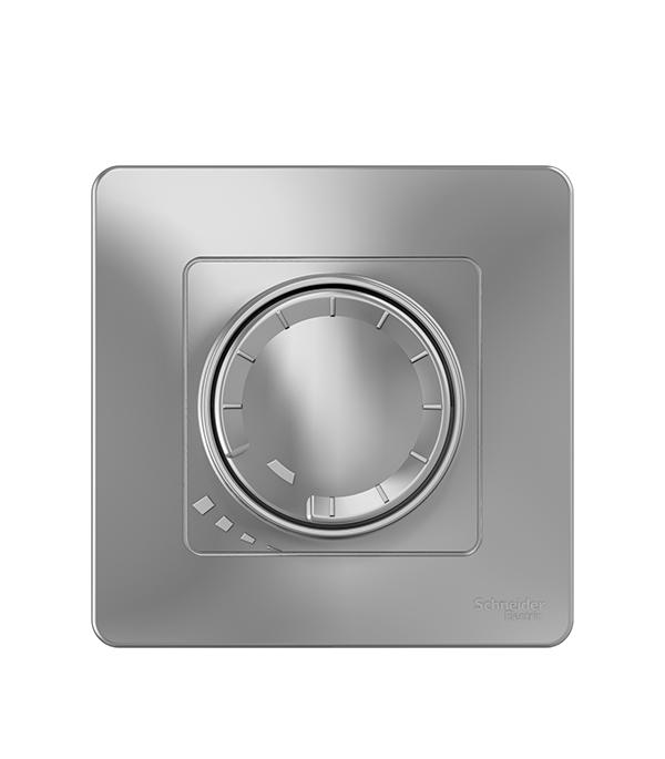 цены Диммер с/у поворотно-нажимной универсальный 400Вт Schneider Electric Blanca алюминий
