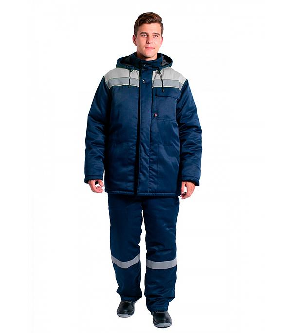 Куртка зимняя Delta Plus Эксперт-Люкс размер 56-58 рост 182-188 темно-синий/серый цвет куртка зимняя delta plus фаворит размер 56 58 рост 182 188