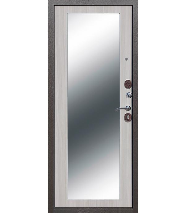 Купить Дверь входная 10 см Троя MAXI зеркало дуб сонома 960х2050 мм правая, Сталь