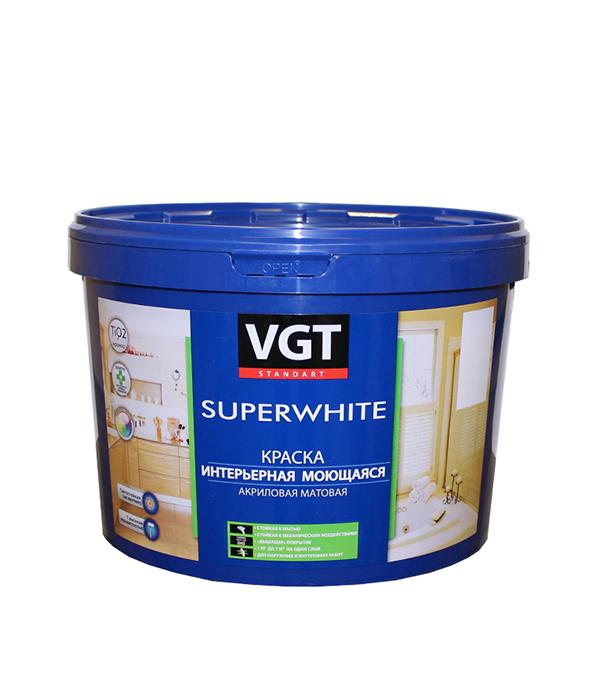 Купить Краска в/д интерьерная моющаяся основа С матовая VGT 10 л/13 кг