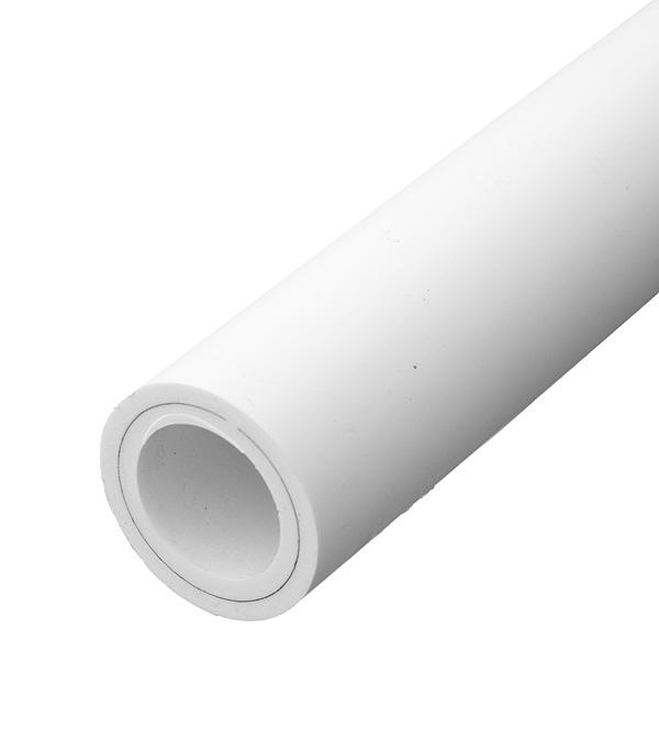 Купить Труба полипропиленовая армированная алюминием РТП 50х2000 мм PN 25, Белый