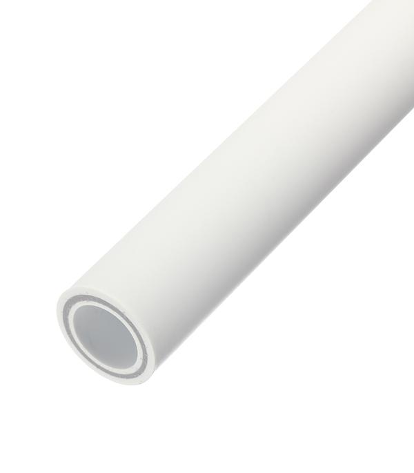 Купить Труба полипропиленовая армированная стекловолокном РТП 50х2000 мм PN 25, Белый