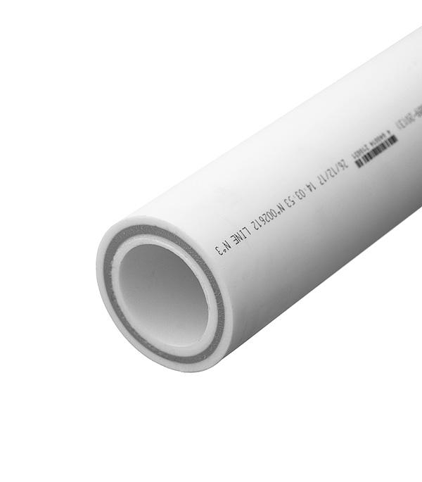 Купить Труба полипропиленовая армированная стекловолокном РТП 63х2000 мм PN 25, Белый