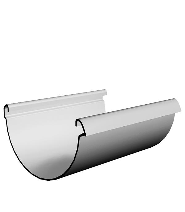 Купить Желоб водосточный пластиковый 3 м пломбир, DOCKE LUX, Белый, Пластик