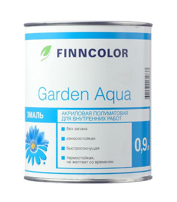 Купить Эмаль акриловая Finncolor Garden Aqua основа A полуматовая 0, 9 л, Белый
