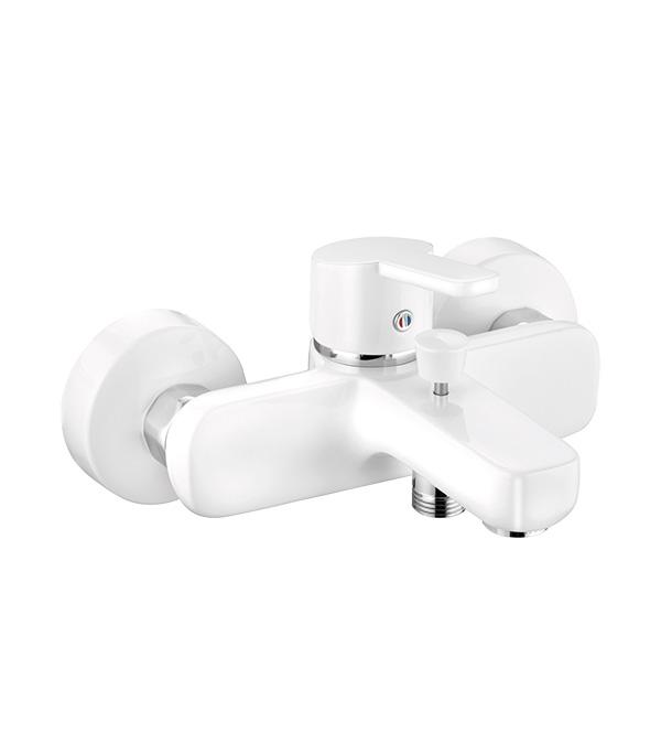 Смеситель для ванны и душа KLUDI LOGO NEO 376819175 с коротким изливом однорычажный без лейки белый смеситель однорычажный kludi logo neo 375310575
