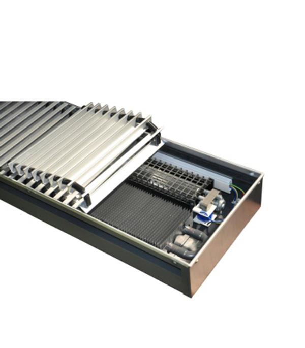 Конвектор внутрипольный  с вентилятором Бриз В 220V 260х120x1200 правый КЗТО