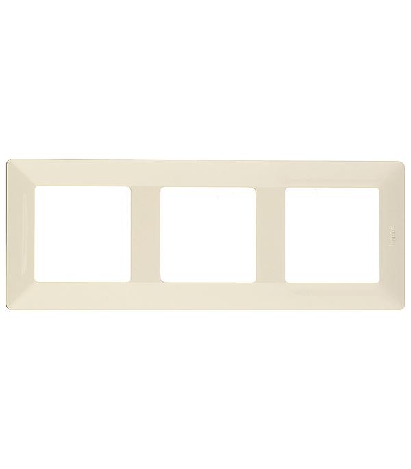 Рамка трехместная универсальная Legrand Valena LIFE слоновая кость лицевая панель legrand celiane для заглушки белый 68143